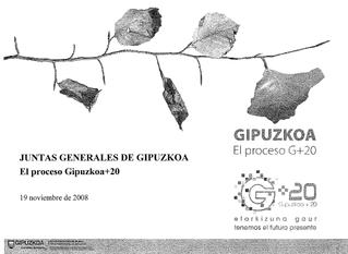 Presentación en Juntas Generales del Gipuzkoa + 20
